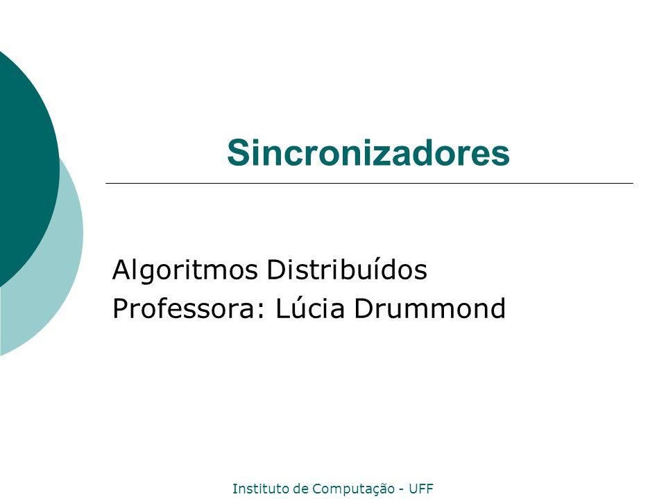 Instituto de Computação - UFF Sincronizadores Algoritmos Distribuídos Professora: Lúcia Drummond