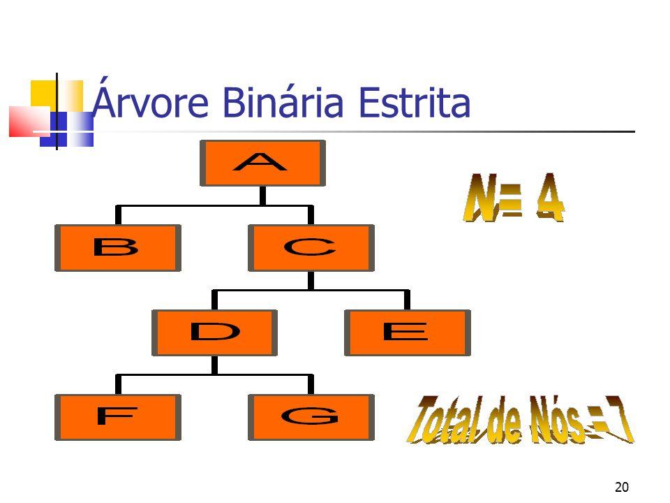 20 Árvore Binária Estrita