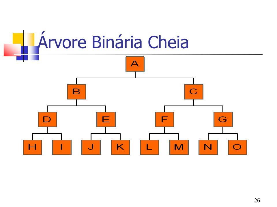26 Árvore Binária Cheia