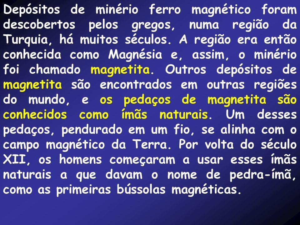 Depósitos de minério ferro magnético foram descobertos pelos gregos, numa região da Turquia, há muitos séculos. A região era então conhecida como Magn
