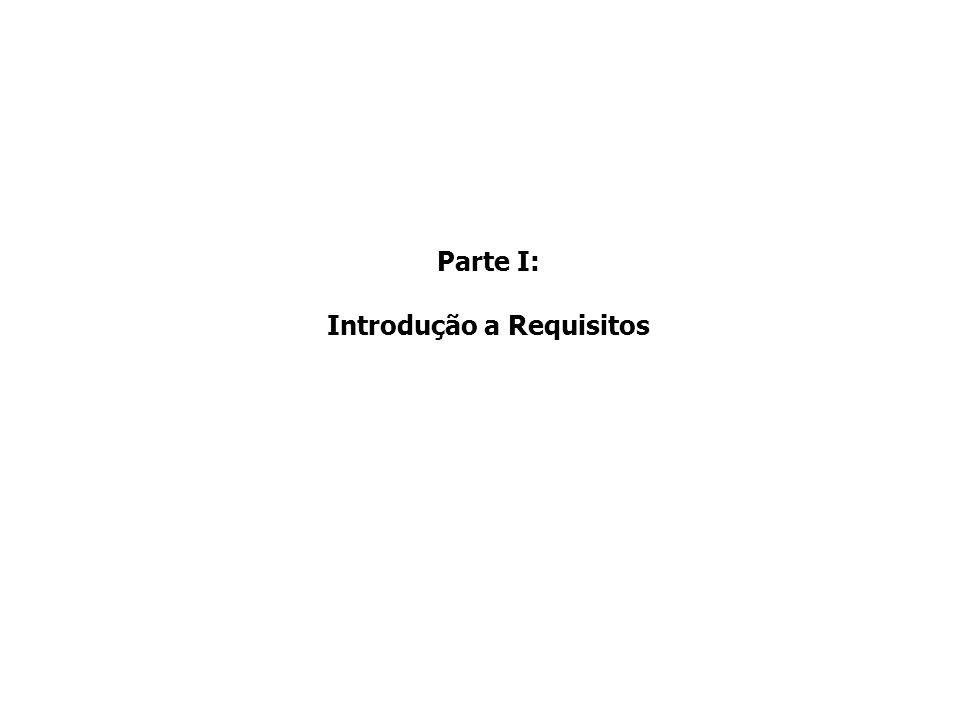 Requisitos não funcionais: relacionados a aspectos de qualidade que o software deverá apresentar, ou a restrições a serem atendidas Exemplo: Norma de Qualidade da ISO/IEC 9126 –Dependente da solução Requisitos inversos: representam funcionalidades que estão fora do escopo da solução