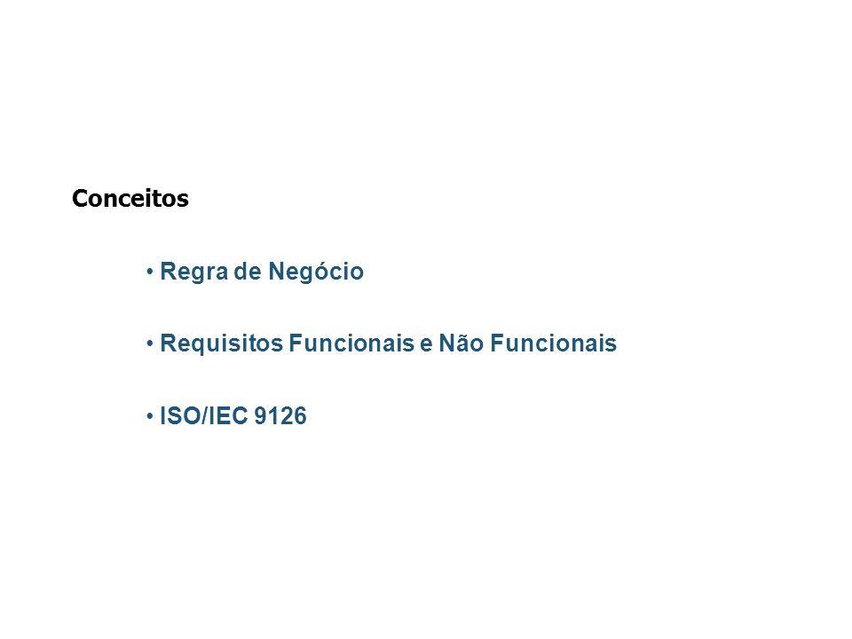 Conceitos Regra de Negócio Requisitos Funcionais e Não Funcionais ISO/IEC 9126