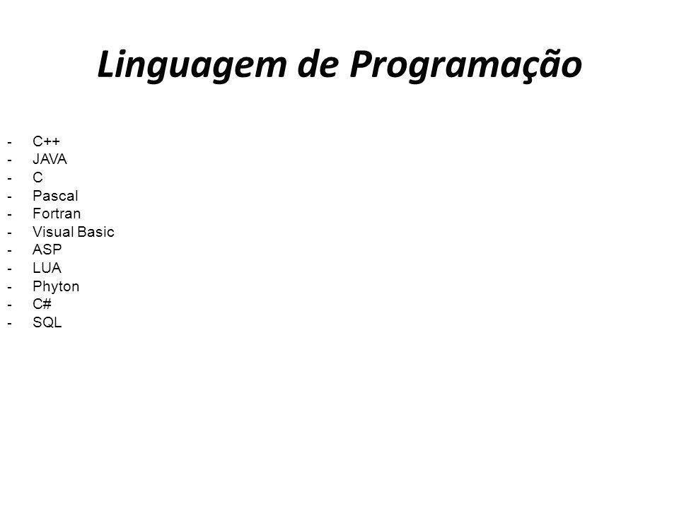 - C++ - JAVA - C - Pascal - Fortran - Visual Basic - ASP - LUA - Phyton - C# - SQL