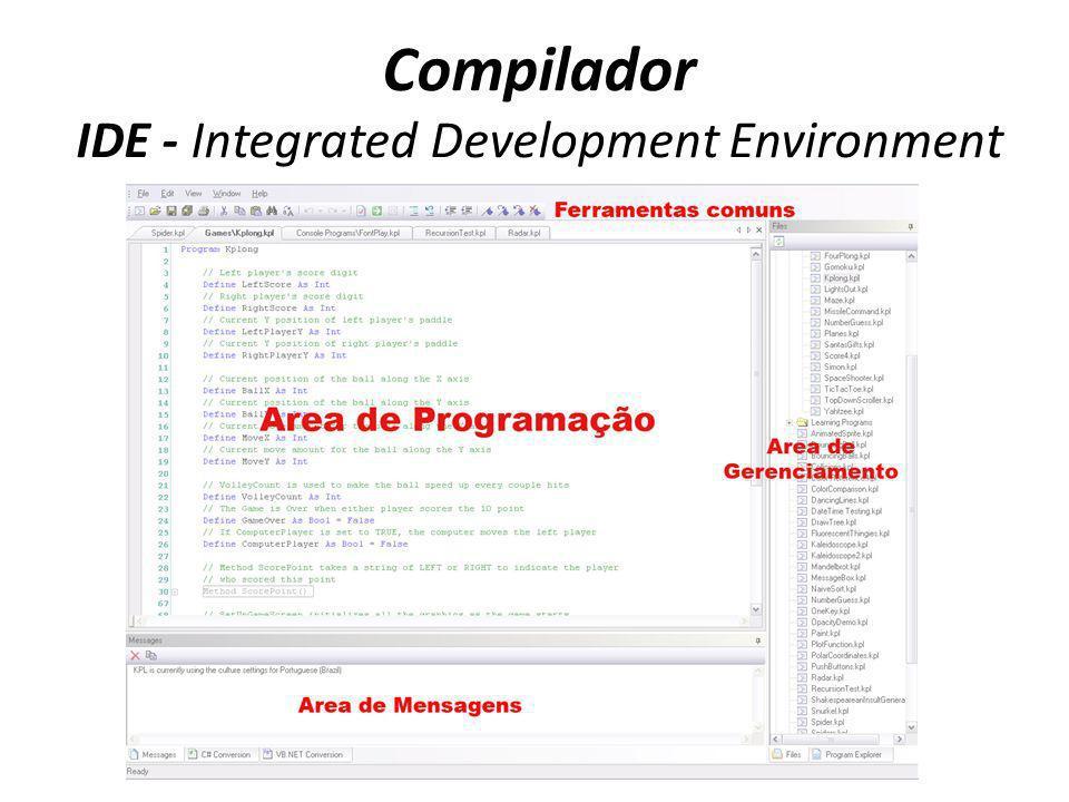 Compilador IDE - Integrated Development Environment