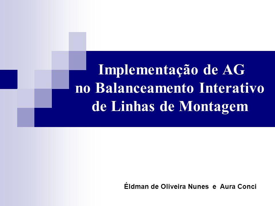 Implementação de AG no Balanceamento Interativo de Linhas de Montagem Éldman de Oliveira Nunes e Aura Conci