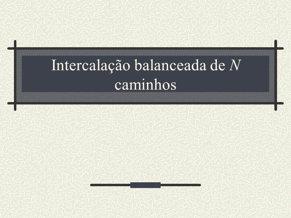 Intercalação balanceada de N caminhos