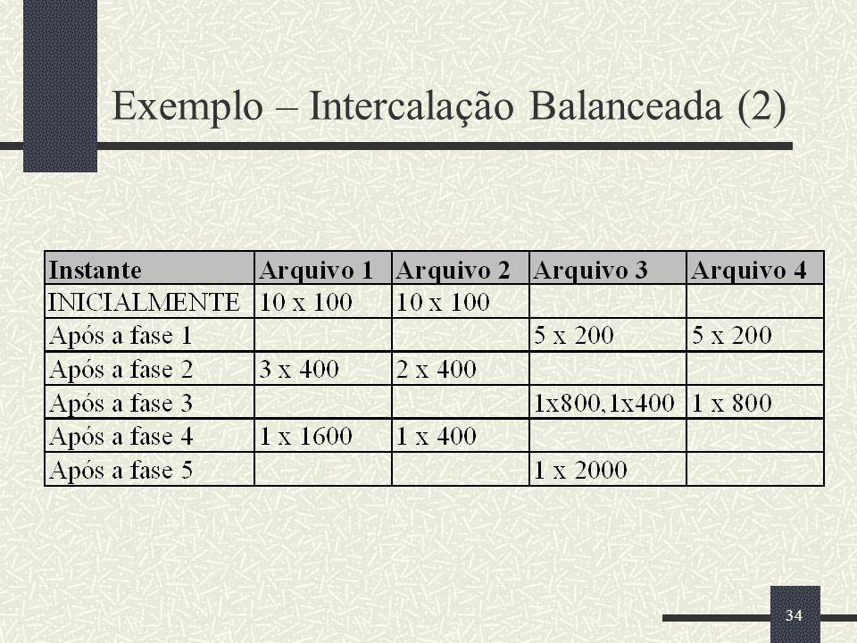 34 Exemplo – Intercalação Balanceada (2)