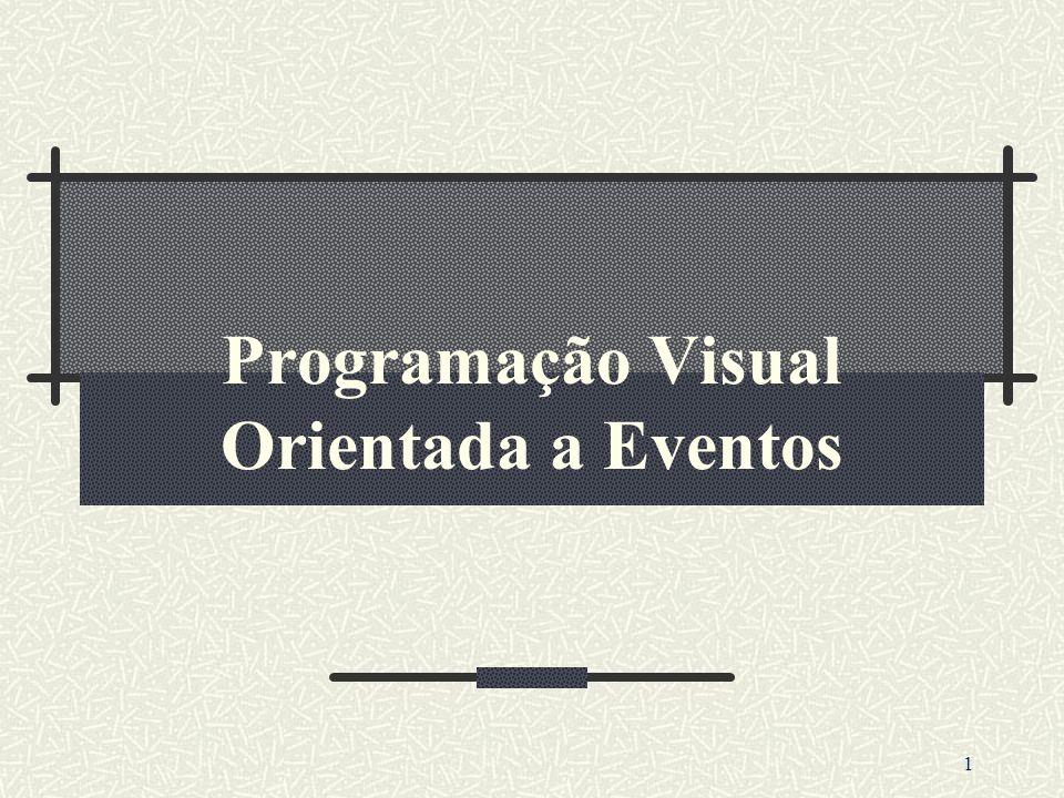 2 Conceito Programação Visual é um modelo de Programação no qual os usuários obtém informações através de imagens e objetos usualmente oriundos de uma tela de vídeo.