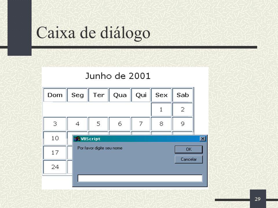 29 Caixa de diálogo