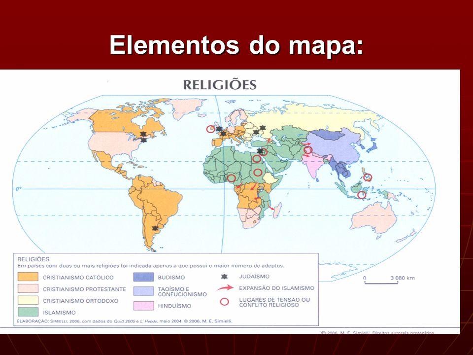 Elementos do mapa:
