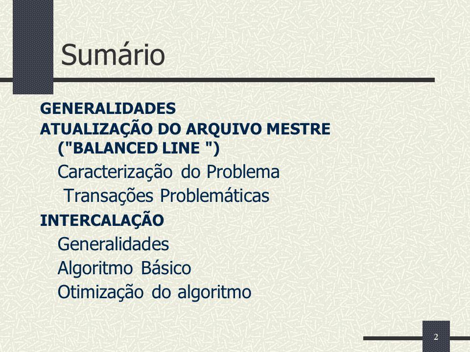 2 Sumário GENERALIDADES ATUALIZAÇÃO DO ARQUIVO MESTRE (