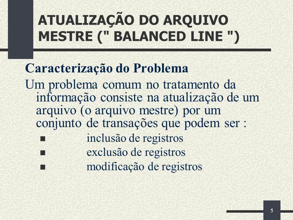5 ATUALIZAÇÃO DO ARQUIVO MESTRE (