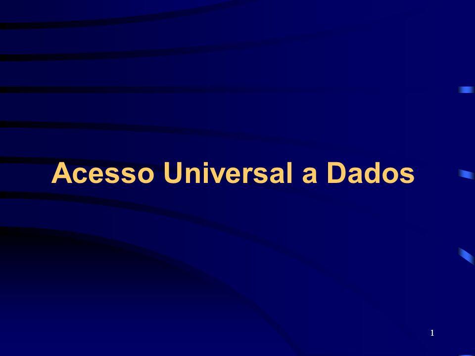 1 Acesso Universal a Dados