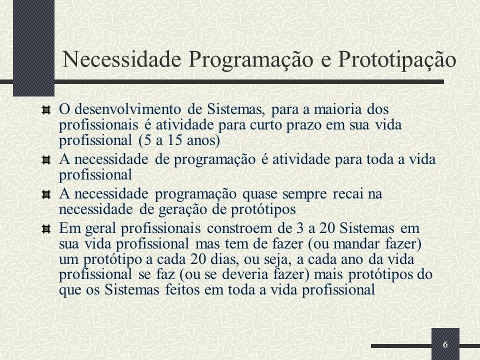 17 Programação para o Segundo Período de 2007