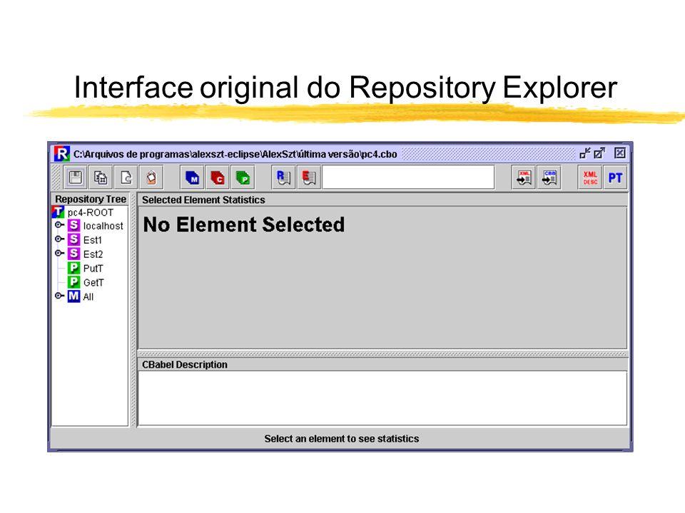 Interface preliminar do Repository Explorer