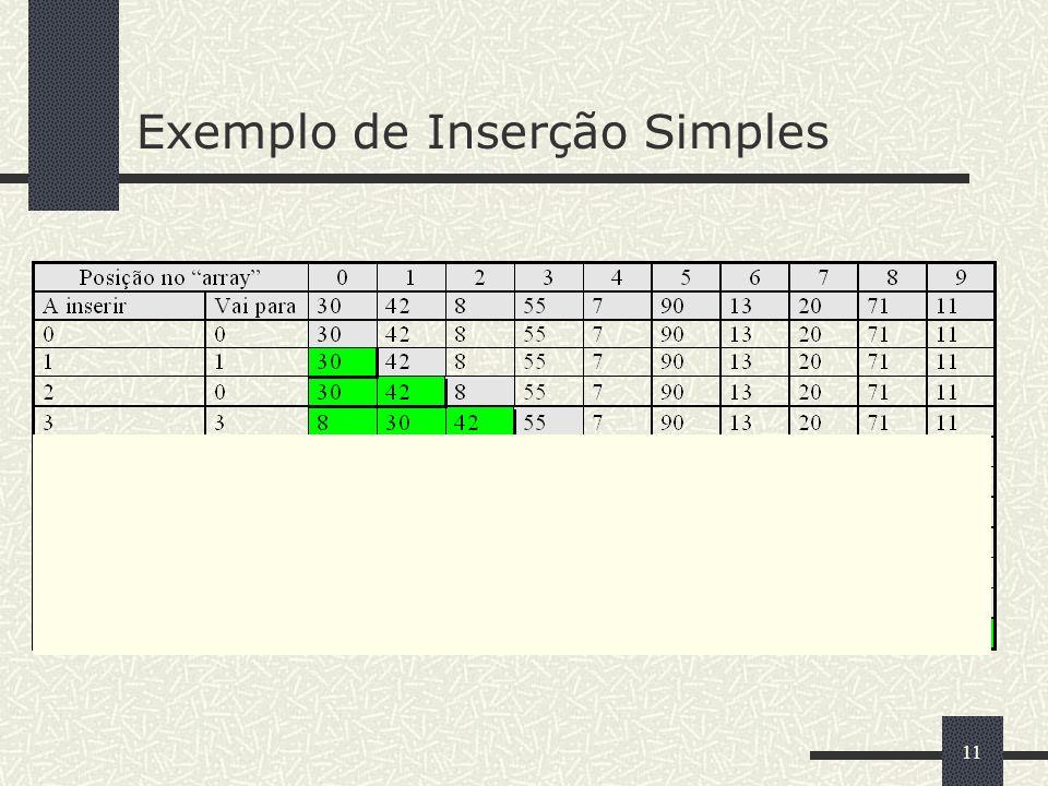 11 Exemplo de Inserção Simples