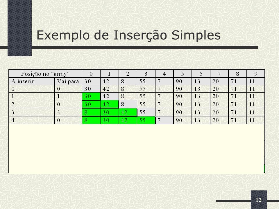 12 Exemplo de Inserção Simples