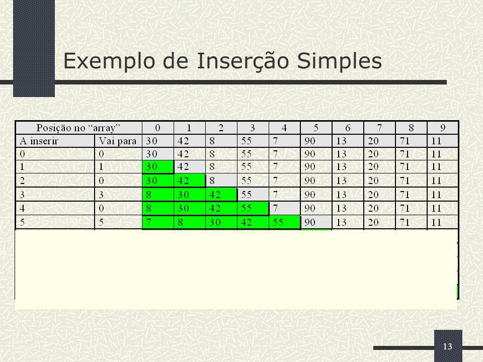 13 Exemplo de Inserção Simples