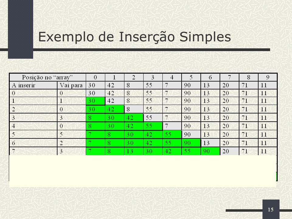 15 Exemplo de Inserção Simples