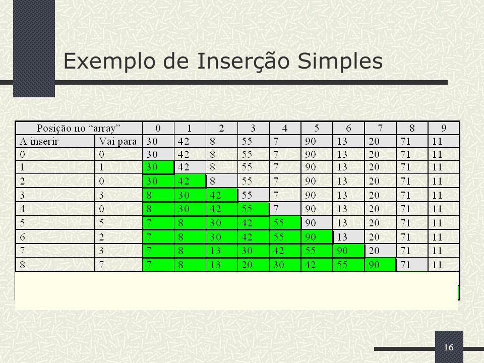 16 Exemplo de Inserção Simples