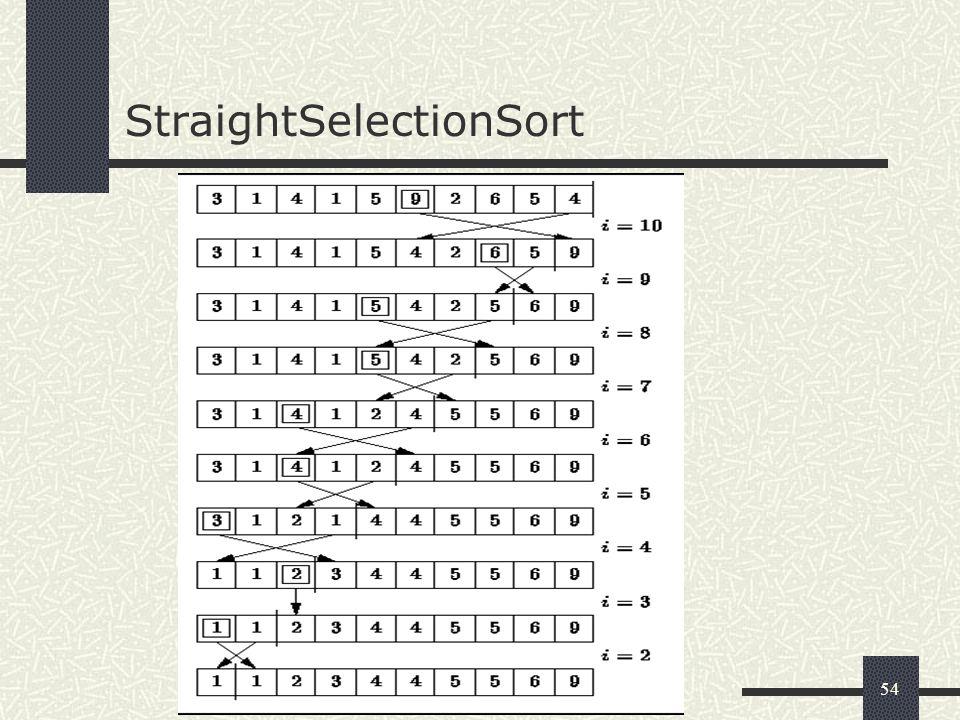 54 StraightSelectionSort