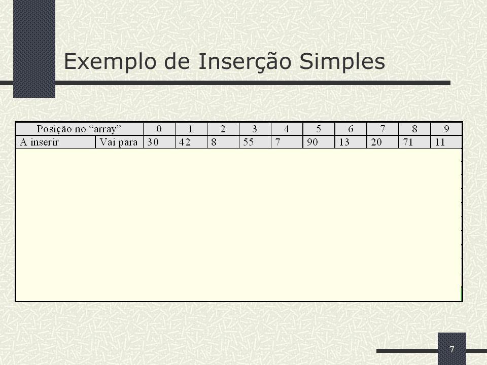 7 Exemplo de Inserção Simples