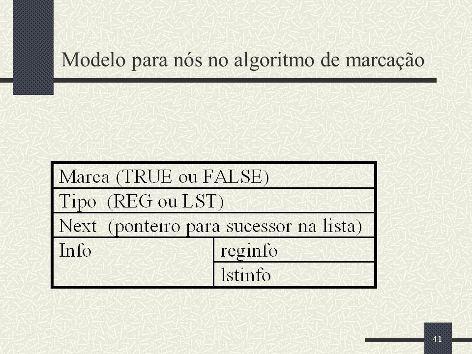41 Modelo para nós no algoritmo de marcação