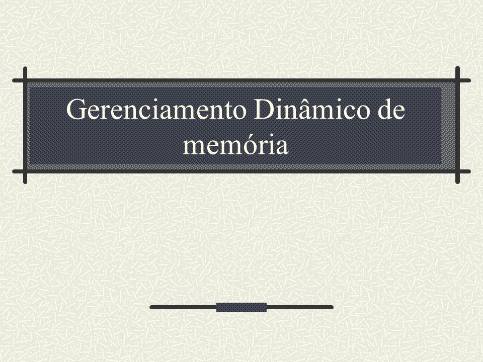 Gerenciamento Dinâmico de memória