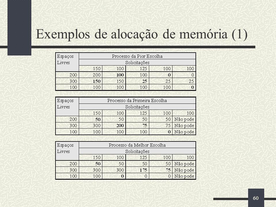 60 Exemplos de alocação de memória (1)