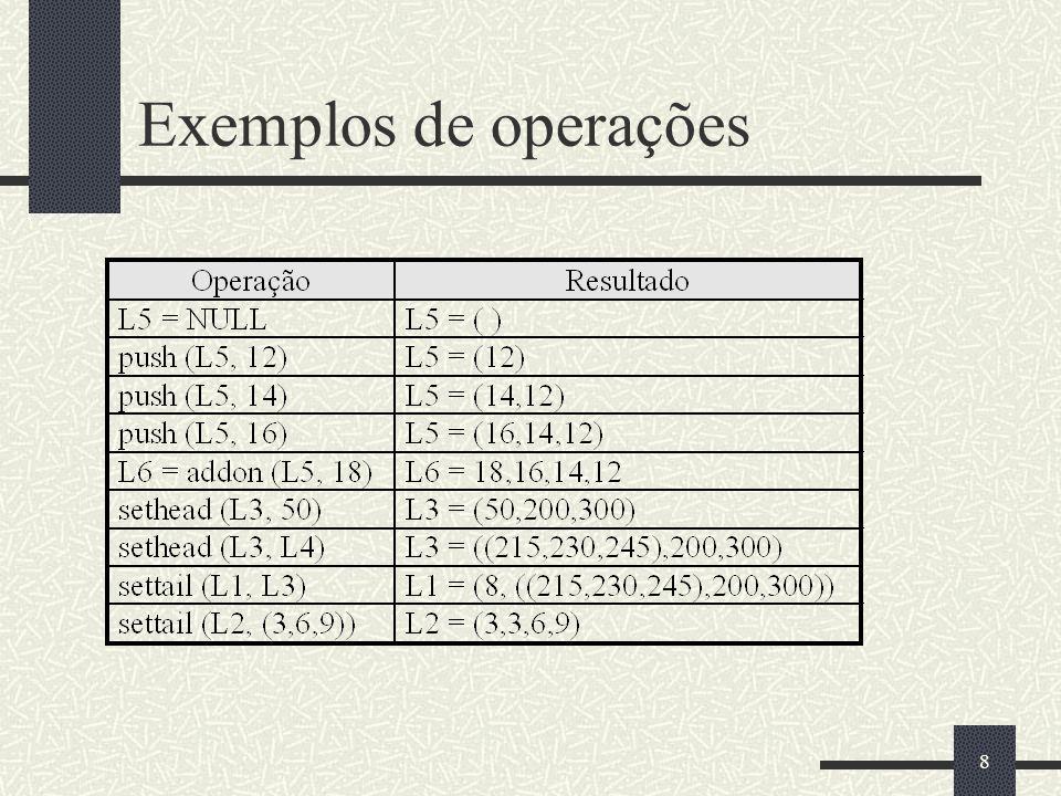 8 Exemplos de operações