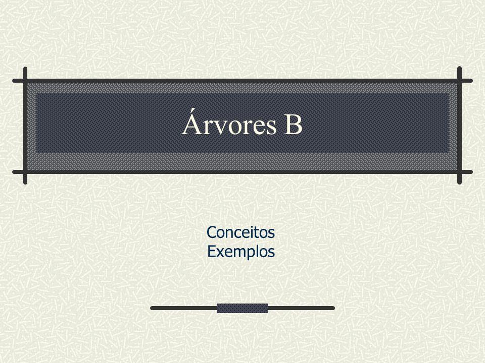 Árvores B Conceitos Exemplos