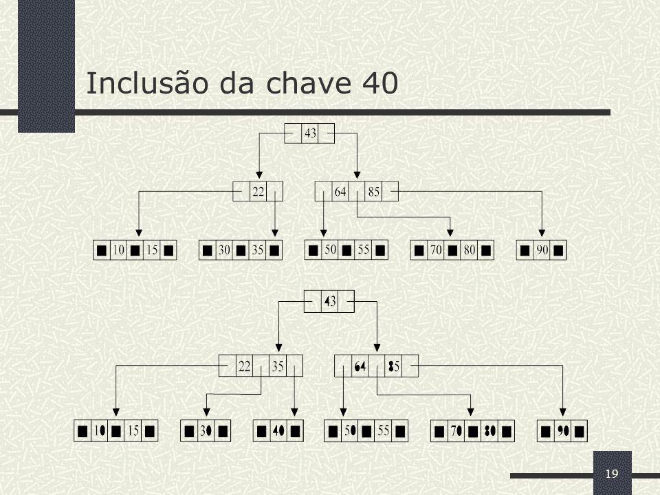 19 Inclusão da chave 40