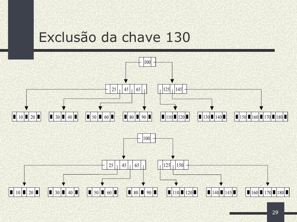 29 Exclusão da chave 130