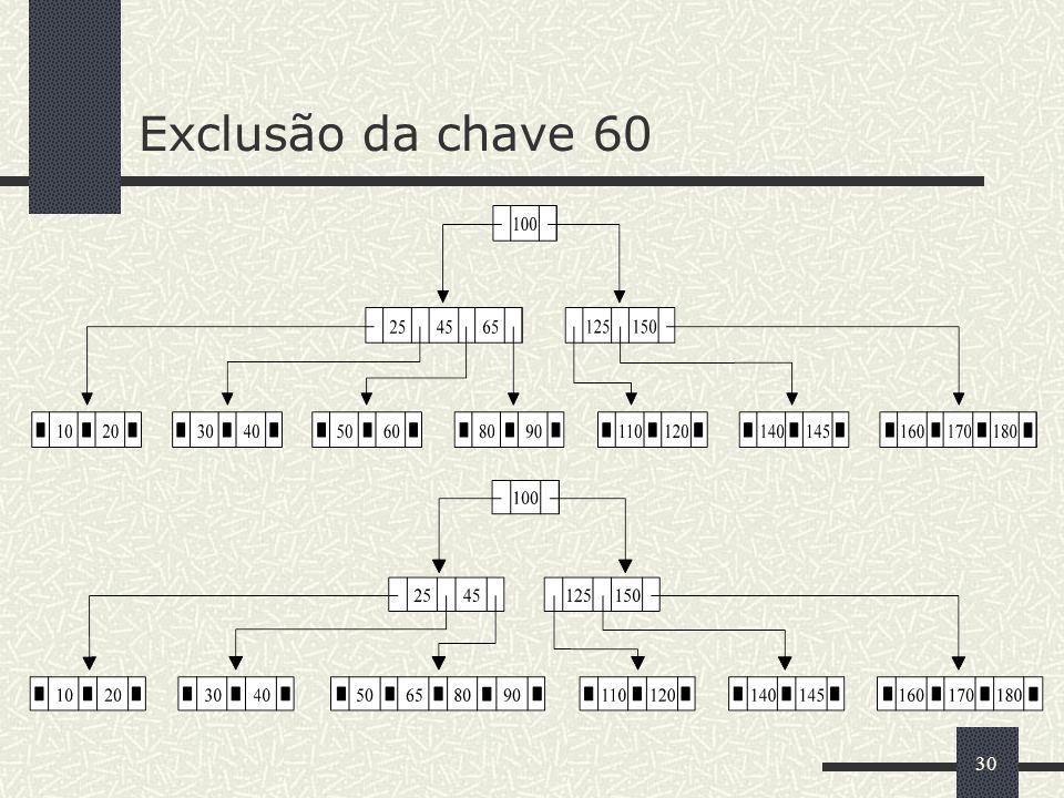 30 Exclusão da chave 60