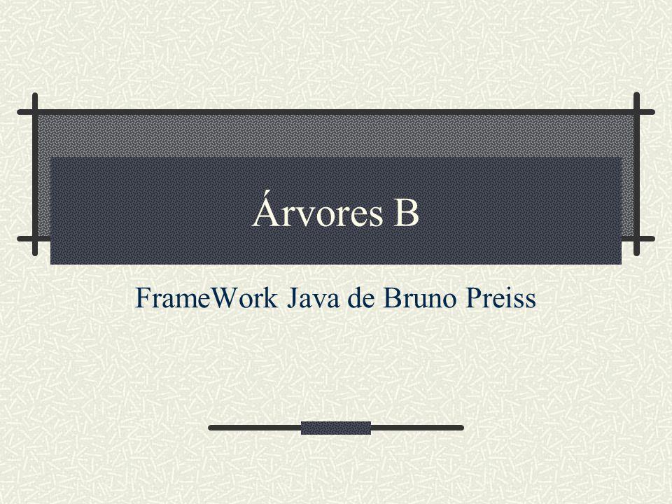 Árvores B FrameWork Java de Bruno Preiss