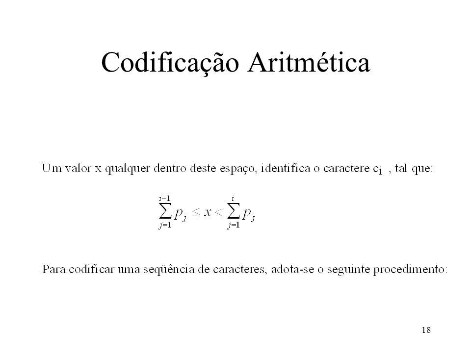 18 Codificação Aritmética