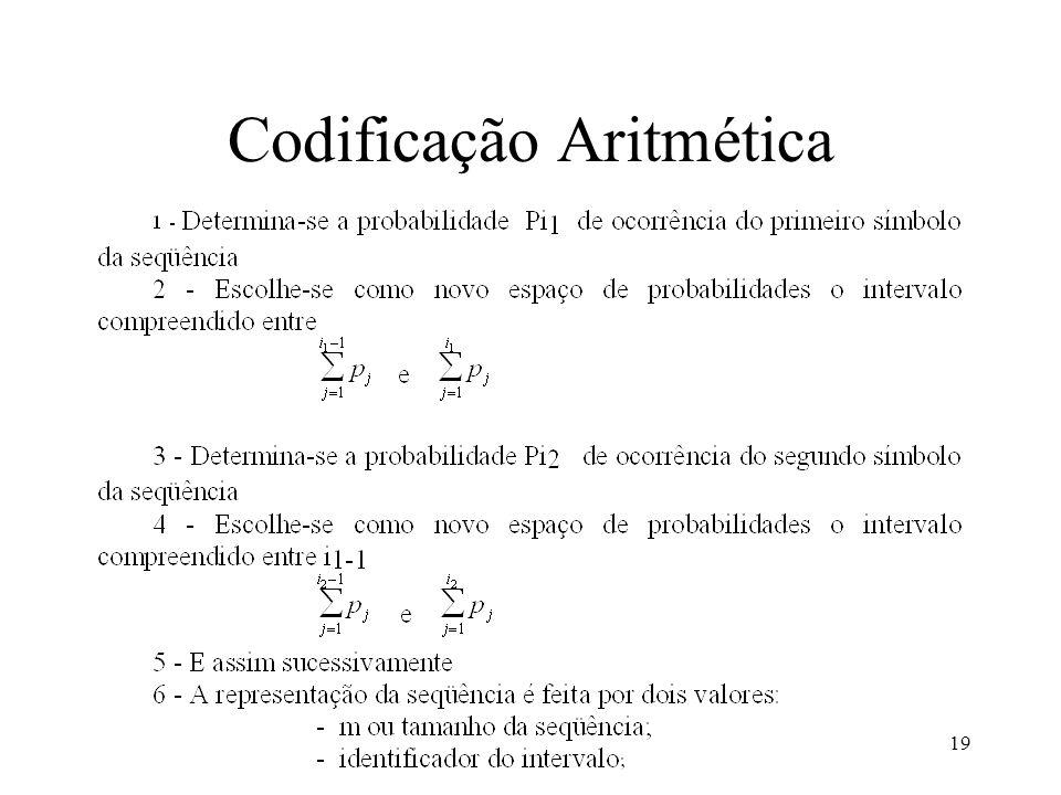 19 Codificação Aritmética