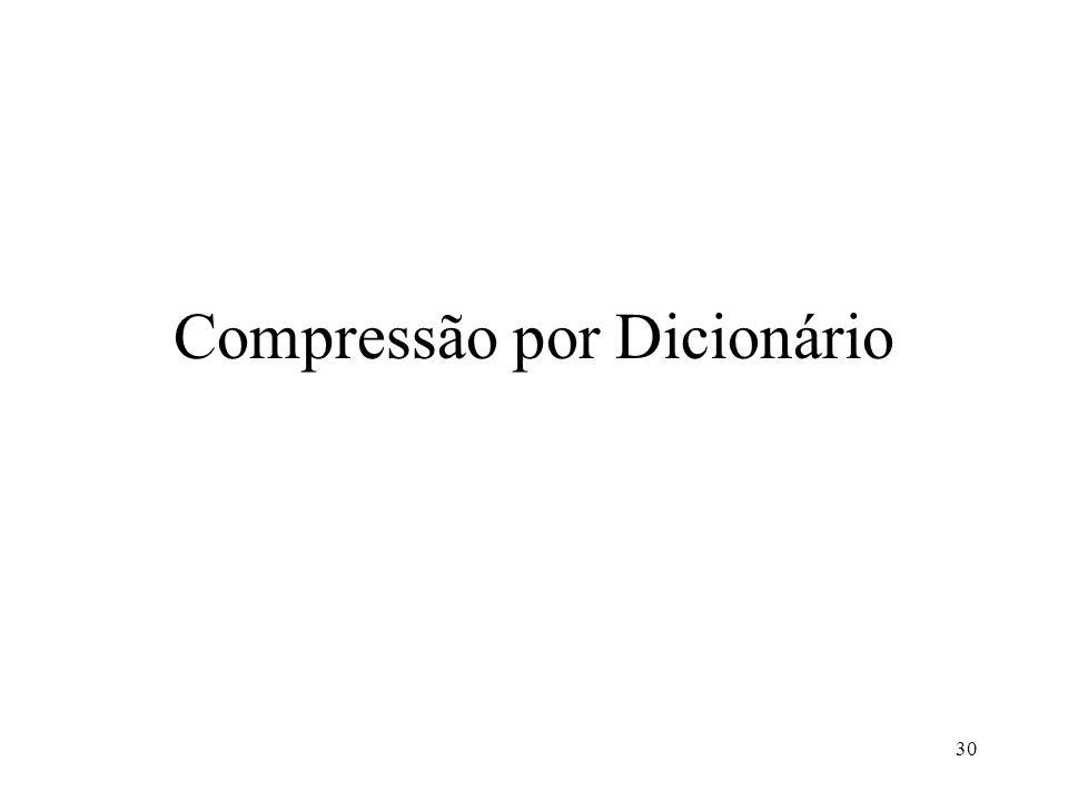 30 Compressão por Dicionário