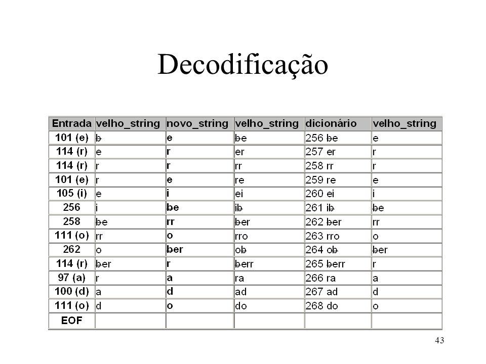 43 Decodificação