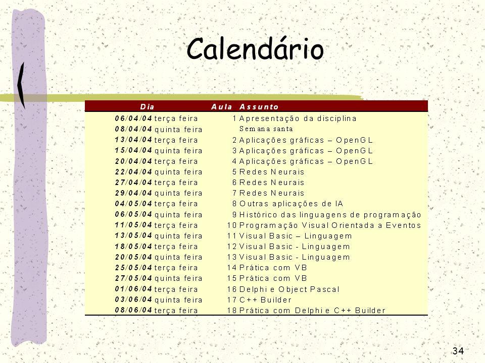 34 Calendário