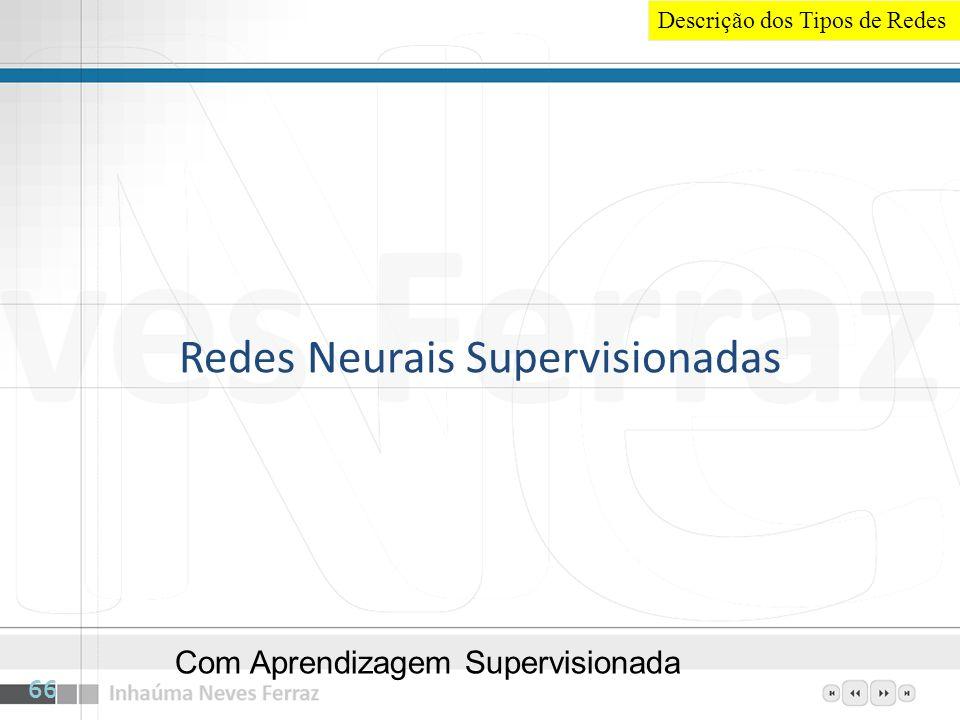 Redes Neurais Supervisionadas Com Aprendizagem Supervisionada 66 Descrição dos Tipos de Redes