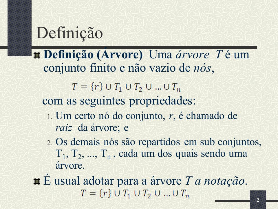 43 Exemplo de varredura de Árvore Tree tree = new BinaryTree (); //...