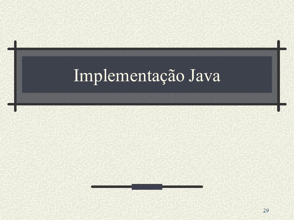 29 Implementação Java