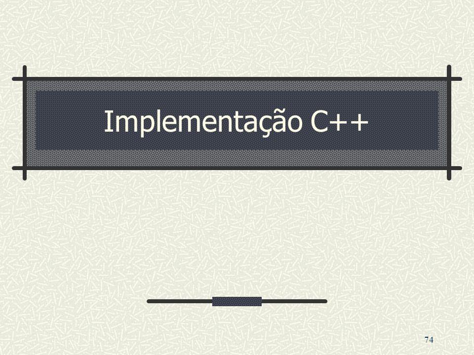 74 Implementação C++