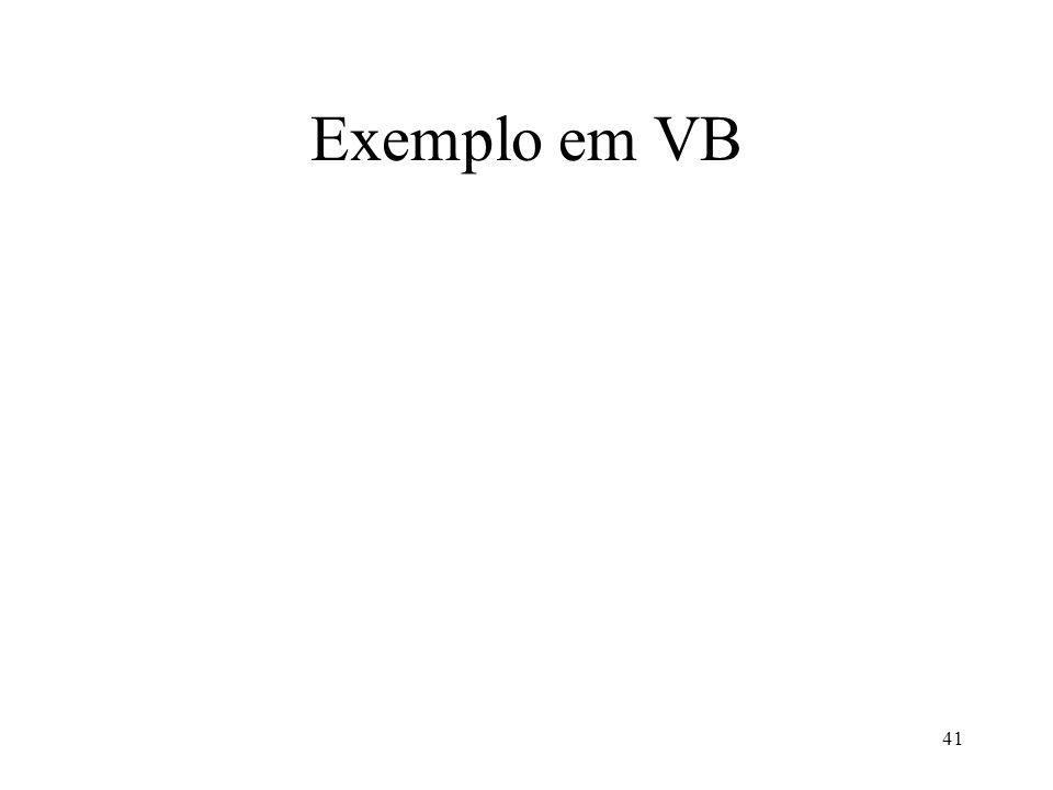 41 Exemplo em VB
