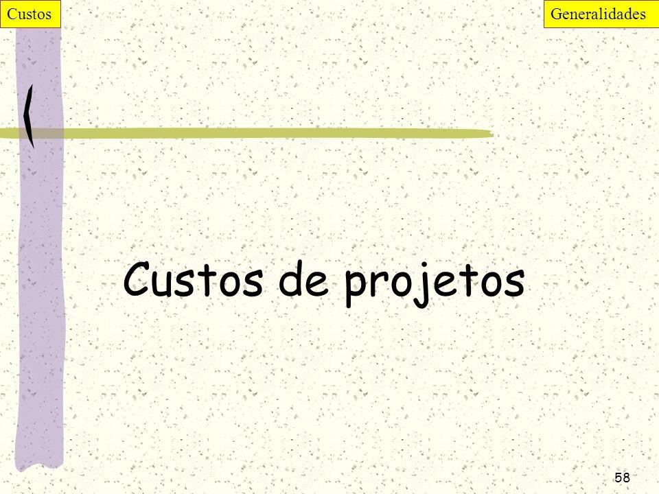 58 Custos de projetos CustosGeneralidades