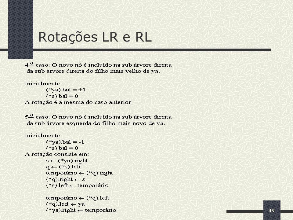 49 Rotações LR e RL