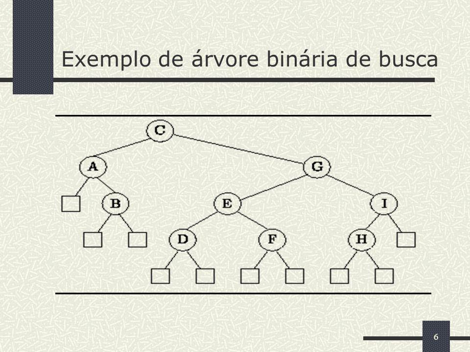 17 Métodos getLeftBST e getRightBST // pgm10_03.java public class BinarySearchTree extends BinaryTree implements SearchTree { private BinarySearchTree getLeftBST() { return (BinarySearchTree) getLeft(); } private BinarySearchTree getRightBST() { return (BinarySearchTree) getRight(); } //...