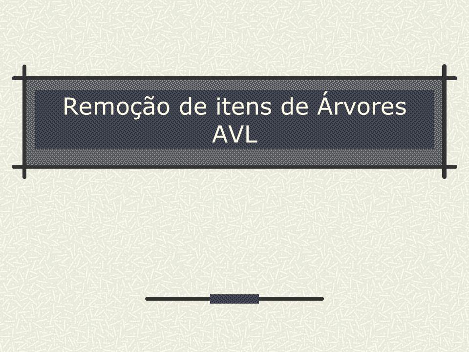 Remoção de itens de Árvores AVL