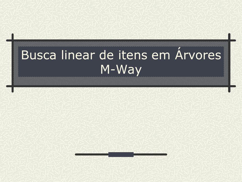 Busca linear de itens em Árvores M-Way